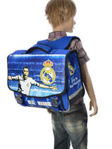 Cartable 2 Compartiments Real madrid Bleu rmcf 163R203S-vue-porte