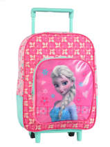 Wheeled Backpack 1 Compartment Frozen Pink basic AST1353