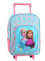 Wheeled Backpack 1 Compartment Frozen Blue basic AST1354