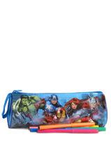 Trousse 1 Compartiment Avengers Bleu basic AST2238-vue-porte