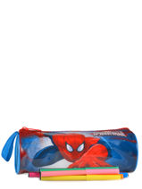 Trousse 1 Compartiment Spiderman Bleu basic AST2246-vue-porte