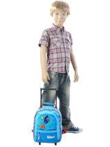 Wheeled Backpack Dory Blue dory et nemo 5640DOR-vue-porte