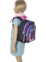 Backpack Chica vampiro Violet black pink 90656TMF-vue-porte