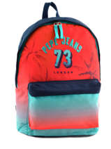 Backpack 1 Compartment Pepe jeans White dario 64323