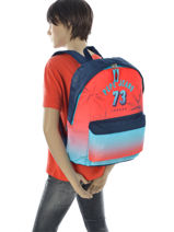 Backpack 1 Compartment Pepe jeans White dario 64323-vue-porte