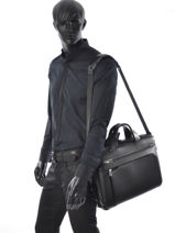 Briefcase Tumi Black arrive leather 955002-vue-porte