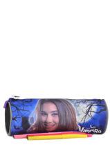 Trousse 1 Compartiment Chica vampiro Noir black purple 061-vue-porte