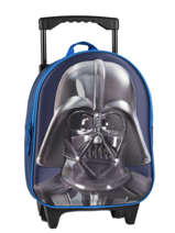 Wheeled Backpack 1 Compartment Star wars Blue 3d 570-7356