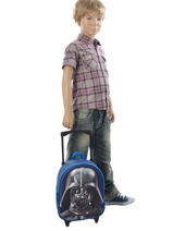Wheeled Backpack 1 Compartment Star wars Blue 3d 570-7356-vue-porte