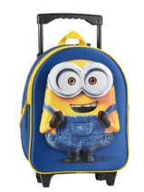 Wheeled Backpack Minions Blue 3d 580-6954
