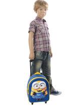 Wheeled Backpack Minions Blue 3d 580-6954-vue-porte