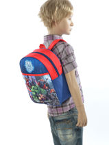 Backpack Avengers Multicolor city 2024107-vue-porte