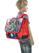 Satchel 3 Compartments Avengers Multicolor city 2024261-vue-porte