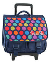 Wheeled Backpack 2 Compartments Miniprix Multicolor dot 16301