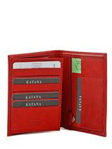 Wallet Leather Katana Red marina 753018-vue-porte