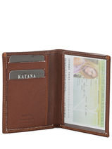 Card Holder Leather Katana Brown marina - 00753090-vue-porte