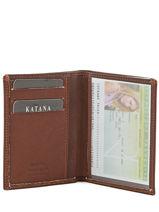Porte-cartes Cuir Katana Marron marina 753090-vue-porte