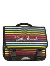 Cartable 3 Compartiments Little marcel Multicolore scolaire RESTOR