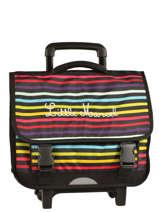 Wheeled Schoolbag 3 Compartments Little marcel Multicolor scolaire REWORK