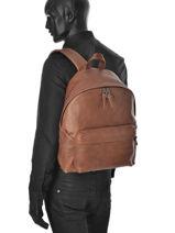 Sac à Dos 1 Compartiment Eastpak Marron leather K620L-vue-porte