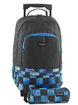 Wheeled Backpack With Free Pencil Case Quiksilver Blue backpacks youth BBP03022