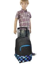 Sac à Dos à Roulettes Avec Trousse Offerte Quiksilver Bleu backpacks youth BBP03022-vue-porte