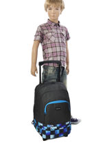 Wheeled Backpack With Free Pencil Case Quiksilver Blue backpacks youth BBP03022-vue-porte