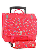Wheeled Schoolbag With Free Pencil Case Roxy Red kid LBP03018
