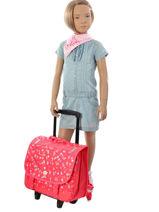 Wheeled Schoolbag With Free Pencil Case Roxy Red kid LBP03018-vue-porte