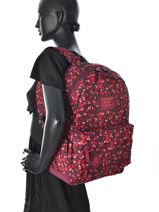 Sac à Dos 1 Compartiment Superdry Rouge top G91002JN-vue-porte