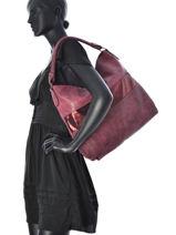Hobo Bag Clarisse Miniprix Red clarisse K013-vue-porte