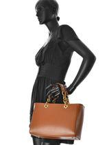 Top Handle Palma Leather Milano Brown palma PA16065-vue-porte