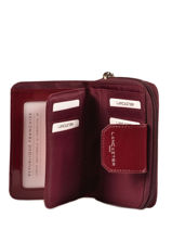 Wallet Lancaster Red basic vernis 14-vue-porte