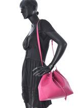 Crossbody Bag Pur Saffiano Leather Lancaster Pink pur saffiano 422-19-vue-porte