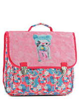Cartable 2 Compartiments Teo jasmin Rose teo kawai TEN13007