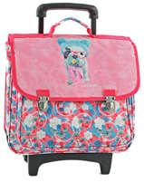 Wheeled Schoolbag 2 Compartments Teo jasmin Pink teo kawai TEN13019