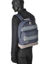 Sac à Dos 1 Compartiment A4 Mi pac Bleu bagpack 740101-vue-porte