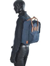 Backpack 1 Compartment Fjallraven Blue kanken 23565-vue-porte