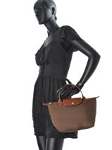 Longchamp Le pliage Handbag Pink-vue-porte