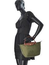 Longchamp Sacs porté main Vert-vue-porte