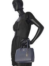 Sac Shopping Casual Cuir Coach Bleu casual 37145-vue-porte
