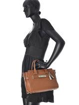 Trapeze Fashion Leather Coach Brown fashion 34816-vue-porte