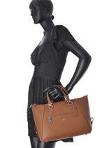 Shopping bag leather-COACH-vue-porte