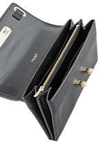Purse Leather Coach Black fashion 53028-vue-porte