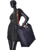 Longchamp Le pliage Sacs de voyage Rouge-vue-porte