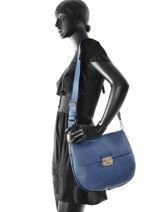 Shoulder Bag Club Leather Furla Blue club CLU-BHV2-vue-porte