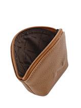 Purse Leather Nathan baume Brown original n 340N-vue-porte
