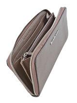 Wallet Leather Michael kors Gray jet set travel T3STVE3L-vue-porte