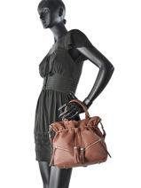 Sac Bourse Soft Vintage Clara Cuir Lancaster Marron soft vintage clara 578-07 Clara-vue-porte