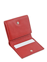 Purse Leather Yves renard Red 23808-vue-porte